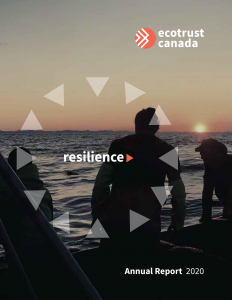 2020 Ecotrust Canada Annual Report Cover Page