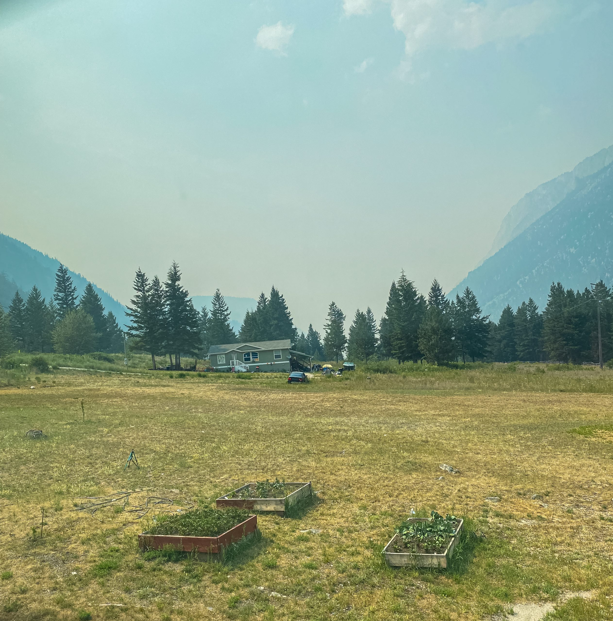 Thick smoky air in Lillooet, BC, Ayden Harrison photo