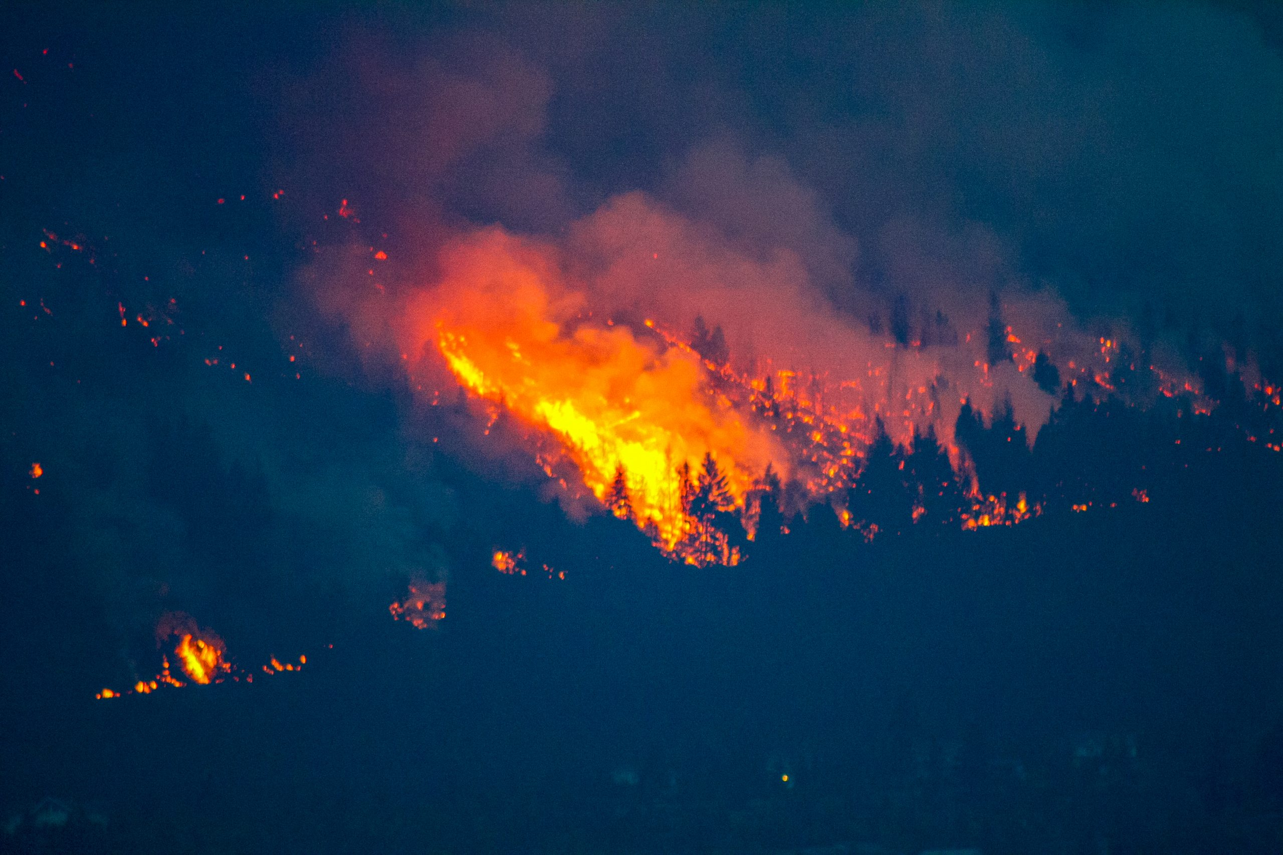 Images from the 2009 wildfire in Lillooet, BC, Ayden Harrison photo